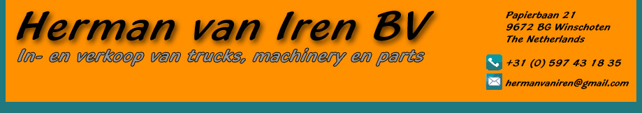 Import en export van machinery, trucks en onderdelen